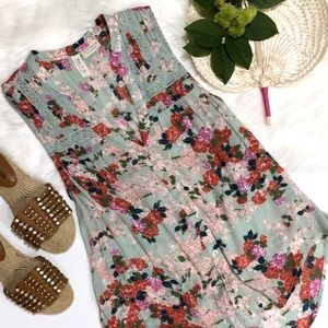 Anthropologie Meadow Rue Floral Sleeveless Top